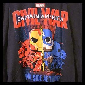 "Marvel Shirts - Marvel/Funko ""Captain America: Civil War"" Tee, 3XL"